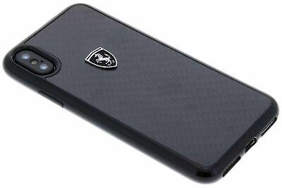 Ferrari Hard Case For iPhone X Black Carbon Style Original Phone Cover OEM NEW