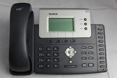 Lot 5 Yealink Sip-t26p Voip Business Office Phones W Stands And Handsets