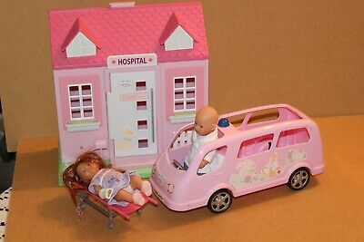 Zapf Creation Mini Baby Born Dolls Hospital Building Ambulance Figures