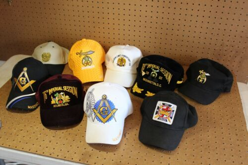 Free Mason Masonic Shriner Hat Cap Lot of 9