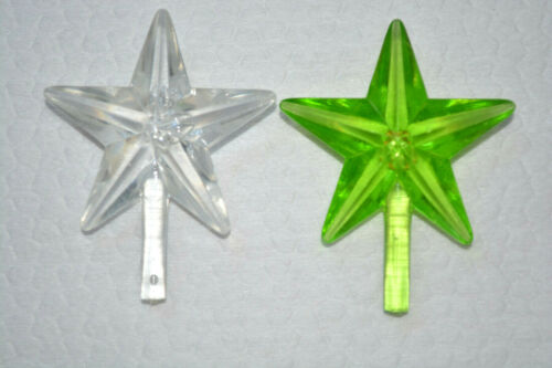 "2 Classic Medium Tree Topper, 1.5"" W, Green Clear, 11/64"" Stem, 1 7/8"" T, Topper"