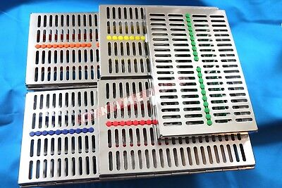5 German Dental Instrument Autoclave Sterilization Cassette Tray Rack -20 Inst