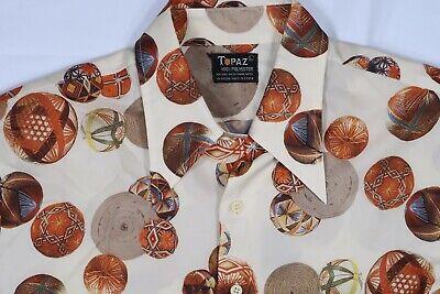 1970s Men's Shirt Styles – Vintage 70s Shirts for Guys TOPAZ POLYESTER MENS MEDIUM - LARGE VINTAGE 1970'S RETRO DISCO HIPPIE LS SHIRT  $34.99 AT vintagedancer.com