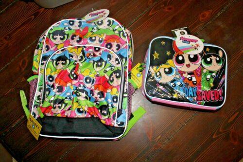 POWERPUFF GIRLS Lot NWT BACKPACK & LUNCHBOX Lunch Bag PPG Cartoon Network