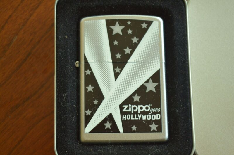 ZIPPO Lighter, 24324 - Hollywood Lights, Satin Chrome, 2007, Sealed, M1146