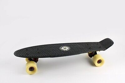 "22"" Skateboard [BLACK/YELLOW] Penny Style Cruiser Board. ABEC-9 Bearing."