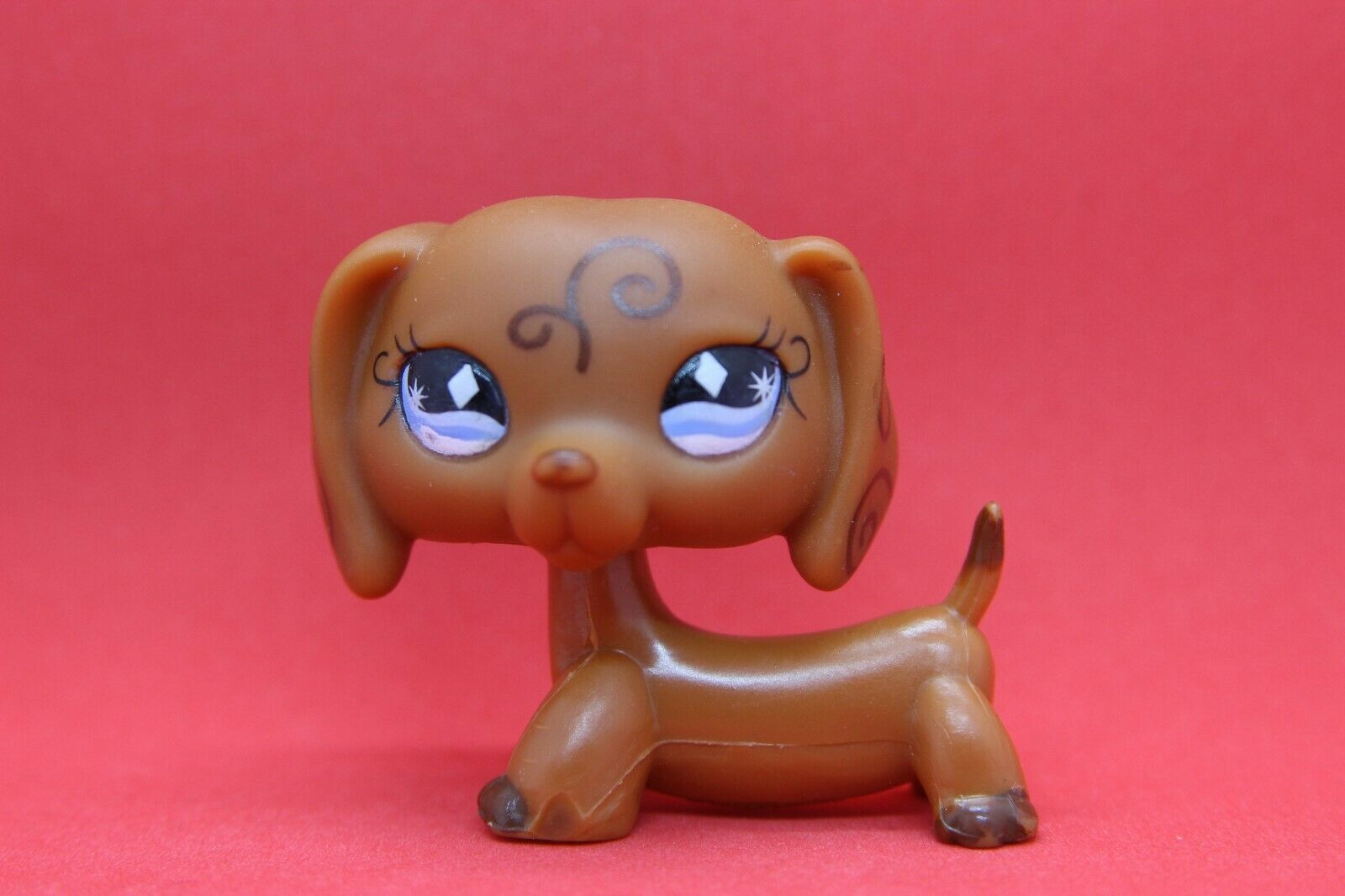 Authentic littlest petshop 640 dog dachshund / chien teckel lps pet shop