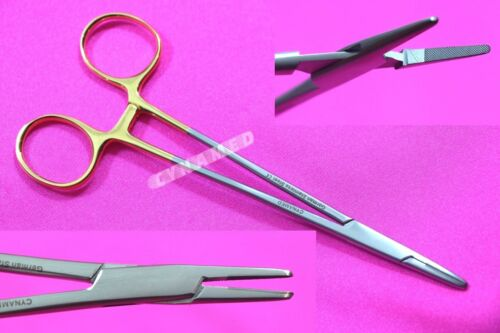 """NEW GERMAN T/C MAYO HEGAR NEEDLE HOLDER DRIVER 6"""" WITH TUNGSTEN CARBIDE INSERTS"""