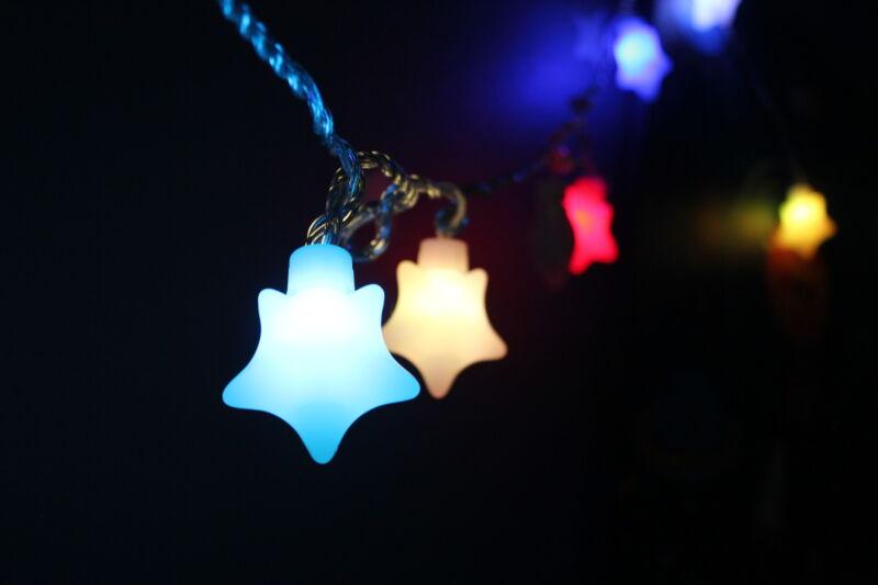 20 LED Red Valentine Twinkle Star Baby Nursery light, Baby Kid Room Decor, Night