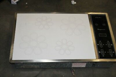 Vintage Chambers Electric Cooktop Stove Magnawave White / Black Model MIC - 36