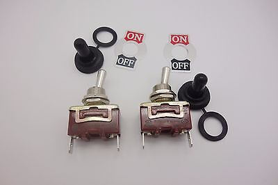2pcs 2 Pin On-off Toggle Switch 15a 250v Plug In Termianl Momentary Water Proof