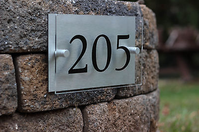 Order Number (Custom Modern Style Address Number Sign, Outdoor and Weather proof Made to)
