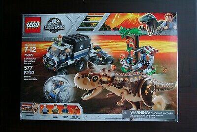 LEGO Jurassic World Carnotaurus Gyrosphere Escape 75929 NEW & SEALED