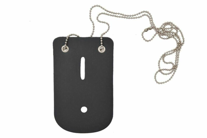 Leather Universal Badge Holder w/Neck Chain for Police Officer Security Fire