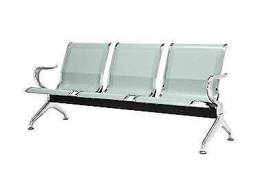 3 Seat Heavy Duty Salon Airport Office Bench Bank Reception Waiting Room Chair