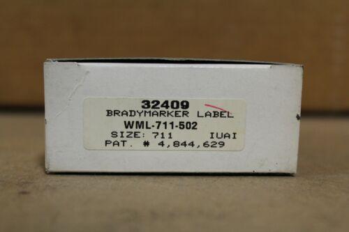 Brady WML-711-502 Wire Marking Labels