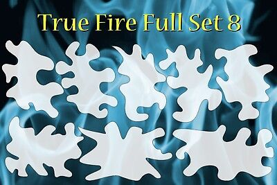 airbrush stencil Flame Template 8 Large Fire Stencils set Spray Vision  - Flames Airbrush Stencil