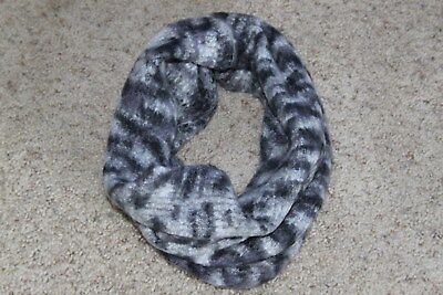"APT. 9 INFINITY SCARF COWL NECK BAND KNIT GRAY BLEND 15"" x 19"" POLYESTER/ACRYLIC"