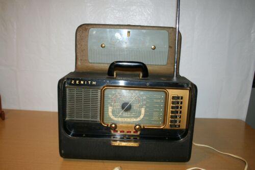 Vintage Zenith H500 Trans-Oceanic Tube Radio 1953