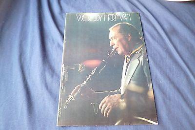Vintage jazz Band original 1970 UK concert tour program WOODY HERMAN ORCHESTRA