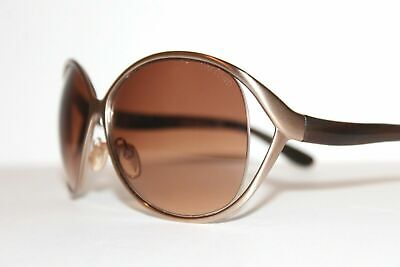 Tom Ford TF 89 842 Yvetty Gold Brown Authetic Sunglasses 63-13 MM Made in Italy
