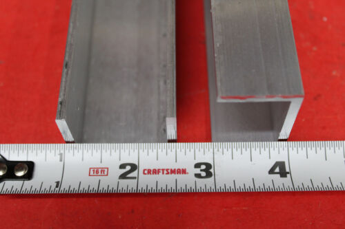 """2 Pieces 1-1/2"""" x 1"""" x 1/8"""" Wall 6061 T6 ALUMINUM CHANNEL 36"""" long Mill Stock"""