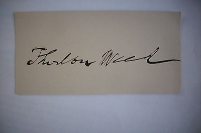Signed THURLOW WEED War of 1812 Anti-Slavery Politician CIVIL WAR Abe Lincoln, used for sale  Glenmoore