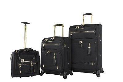 Steve Madden Luggage 3 Piece Softside Spinner Suitcase Set Collection Collection 3 Piece Luggage Set