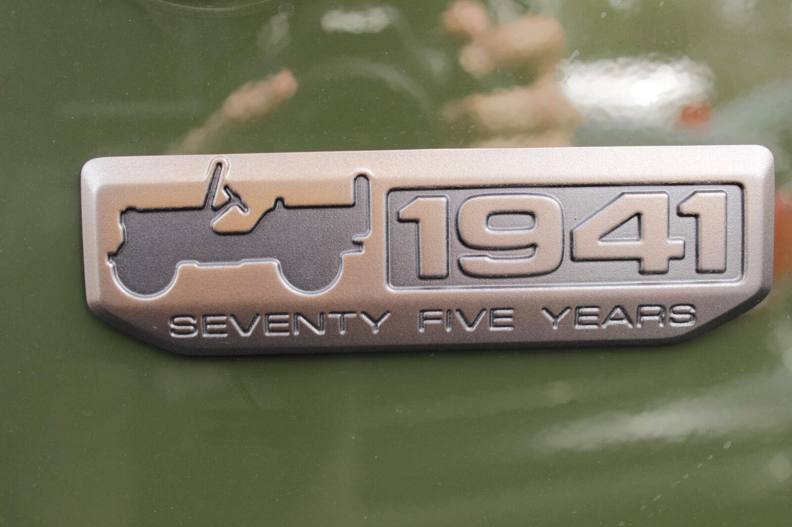 NEW OEM JEEP CHEROKEE ANNIVERSARY BADGE 1941 X 2 RIGHT//LEFT DOOR MOPAR EMBLEM
