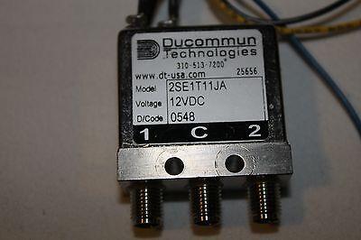 Ducommun RF 2SE1T11JA Relay SMA DC to 26.5 GHz 12 V DC  2SE1T11JB