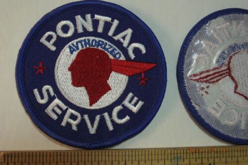 """Pontiac Authorized Service Embroidered Iron-on Patch 3"""" Round"""