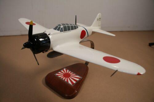 Airplane WWII Japan A6M2 ZERO Fighter 1:36 Wood Desk Desktop Display Model Plane