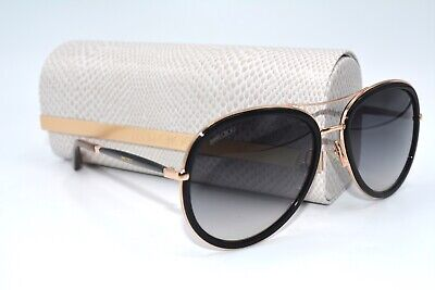 NEW JIMMY CHOO TORA/S QBE9S BLACK GOLD AUTHENTIC SUNGLASSES 57-18 W/CASE (Jimmy Choo Black Sunglasses)