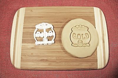 Gold Money Pot Cookie Cutter Gingerbread Mold Biscuit Cake Topper Fondant