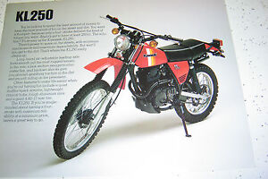 1 Kawasaki 1981 KL250 NOS. Sales Brochure.2 Pages.