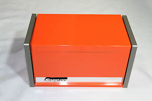 snap on electric orange mini micro top chest tool box rare brand new ebay. Black Bedroom Furniture Sets. Home Design Ideas