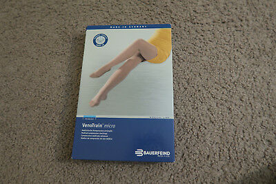 Bauerfeind Venotrain Micro Medical Compression Stockings L Normal Long