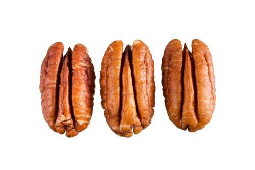 Fresh Crop of natural halves in 5 lbs vacuum sealed bag. Raw shelled pecan nuts