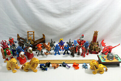 Vtg LOT (50) Fisher Price-Imaginext Medieval Knights-Access.-Dragon MORE-ID#0510