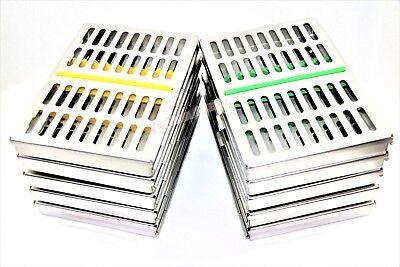 10 German Dental Surgical Autoclave Sterilization Cassette Box For 10 Instrument