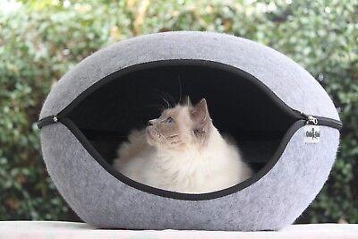Cat Bed Pod Cave Dog Bed Grey