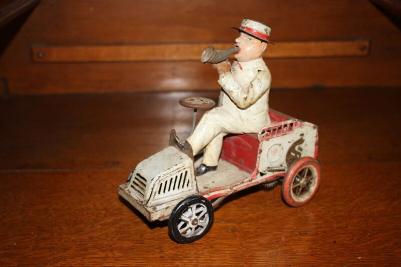 Antique Germany Tin LEHMANN TUT TUT 490 Auto Car Wind Up Toy for Parts or Rest.