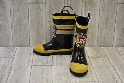 Western Chief Boys Waterproof Printed Rain Boot - Fire chief -Little Kids Size 2 - Kids Fire Chief Rain Boot
