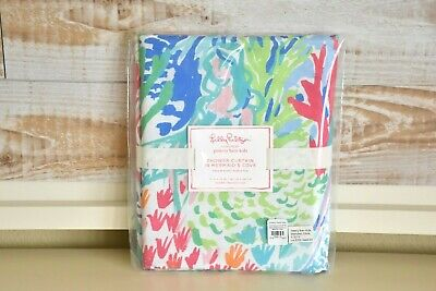 NEW Pottery Barn Kids Lilly Pulitzer Mermaid Cove Shower Curtain NWT