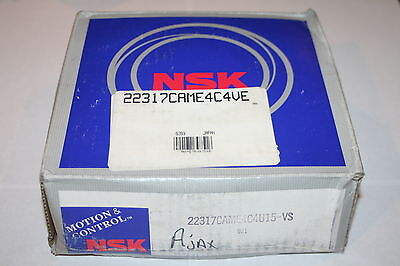 Nsk 22317.cam.e4.c4.u15 Spherical Roller Bearing Came4c4.ve  New