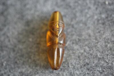 tibetan prayer worry hand-carved dzi bead old crystal amulet Beads 1