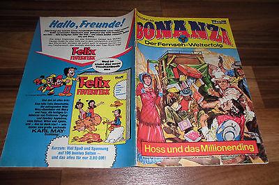 BONANZA # 83 -- HOSS und das MILLIONENDING // mit Bonanza-Poster 1. Auflage 1976