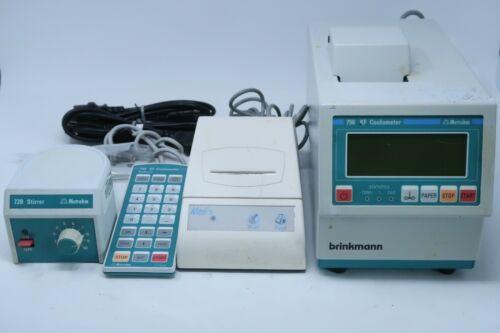Brinkmann Metrohm 756 KF Coulometer + 728 Stirrer, Keyboard & Neo