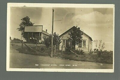 Crow River MINNESOTA RP 1916 GENERAL STORE Creamery nr Grove City GHOST TOWN?