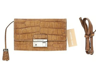 Michael Kors Women's Brown Gia Snake Clutch Bag With Lock